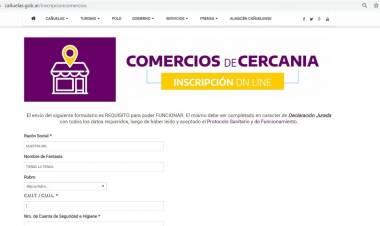 """Trámites vía Internet para la inscripción de los """"comercios de cercanía"""""""
