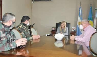 La intendenta se reunió con las autoridades de la Policía Rural