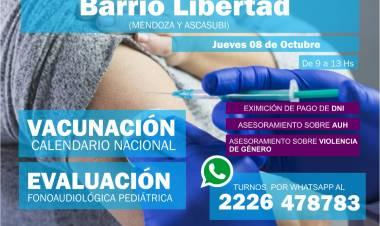Operativos de vacunación y salud en barrios y localidades