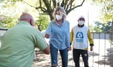 COVID-19: La intendenta recorrió el vacunatorio de Cañuelas