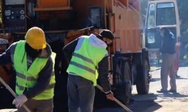 Obras en la calle 25 de Mayo, entre Libertad y Rivadavia