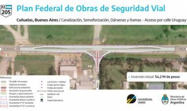 Llaman a licitación para construir la dársena y semaforización del acceso de R205 y Uruguay