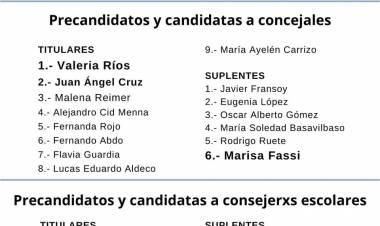 El Frente de Todos Cañuelas presentó su lista