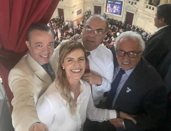 Marisa Fassi acompañó el juramento de Alberto y Cristina