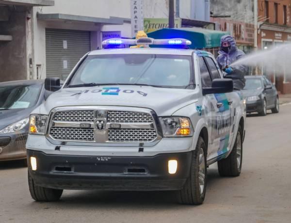 Operativo de desinfección de la Policía Ecológica