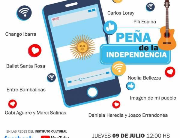 Se viene la peña virtual de la Independencia