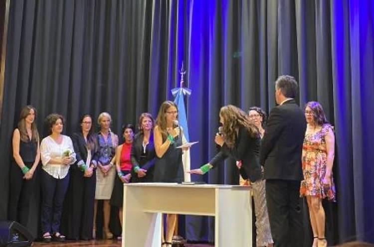 Marisa Fassi participó de la asunción del gabinete del primer ministerio de la Mujer