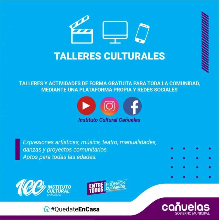 participá de los talleres del Instituto Cultural desde tu casa