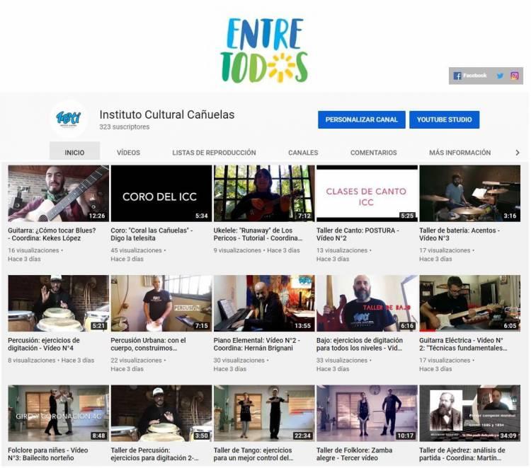 El canal de Youtube de ICC ya tiene más de 100 talleres virtuales