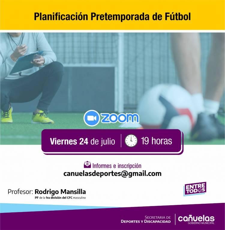 Charla virtual sobre Planificación de Pretemporada de Fútbol