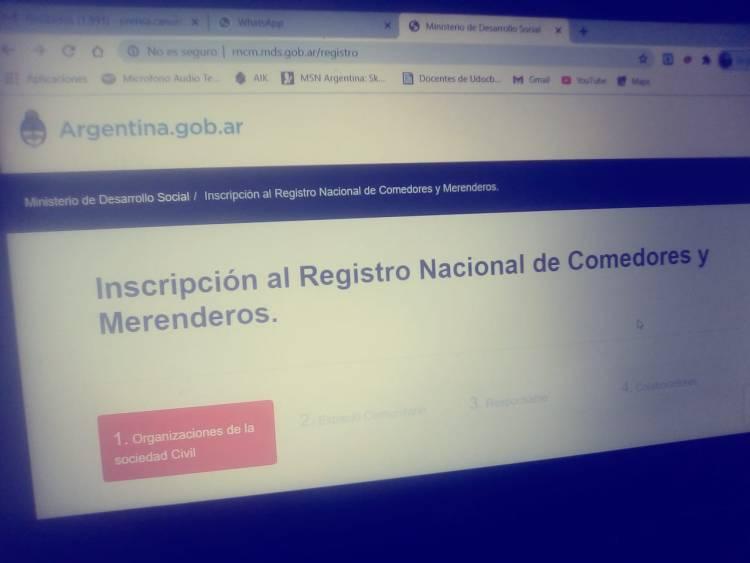 Inscripción al Registro Nacional de Comedores y Merenderos