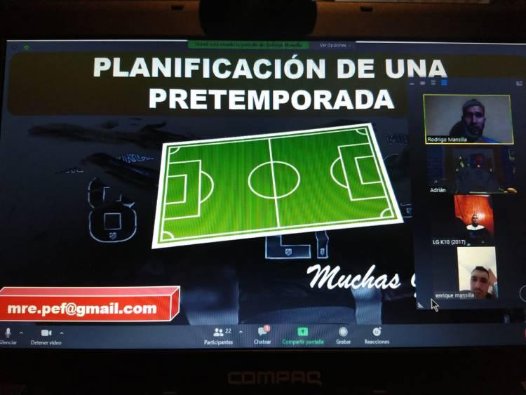 Se efectuó virtualmente la Planificación de una Pretemporada de Fútbol