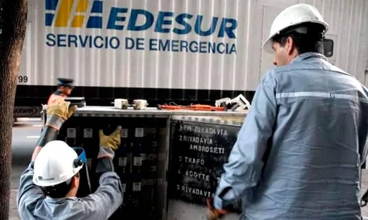EDESUR anuncia un nuevo cronograma de cortes para el miércoles en Máximo Paz