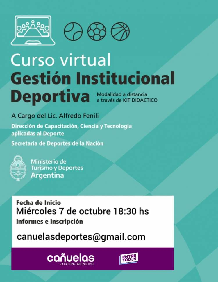 Curso de Gestión Institucional Deportiva