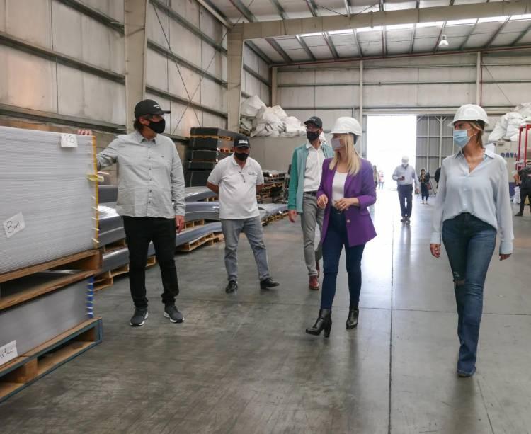 Visita de la vicegobernadora, con el foco puesto en la producción y el empleo