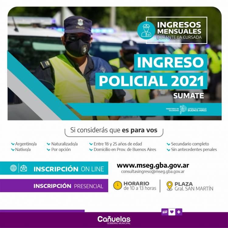 Ingreso a las Escuelas de Formación Policial de la Provincia de Buenos Aires