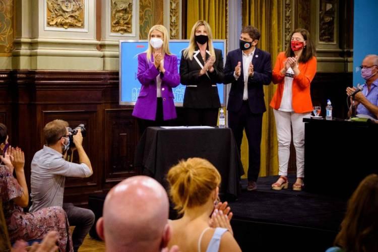 Marisa Fassi firmó un convenio para ampliar las políticas contra la violencia de género