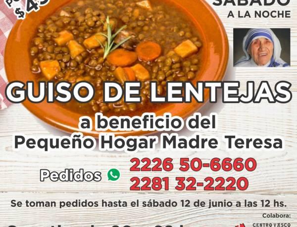 GUISO DE LENTEJAS SOLIDARIO. SÁBADO 12 DE JUNIO