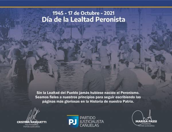 Día de la Lealtad Peronista / 17 de Octubre 1945-2021
