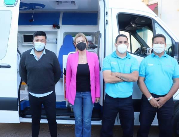 El Hospital Marzetti recibió una nueva ambulancia de alta complejidad