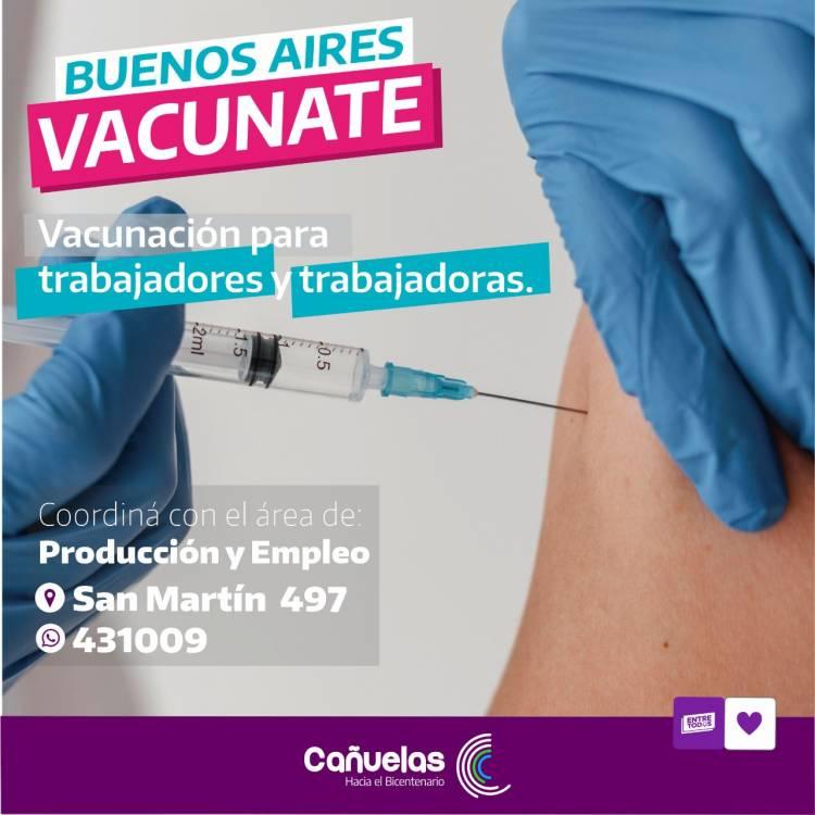 Buscan articular la vacunación conjunta de trabajadores y trabajadoras de Cañuelas